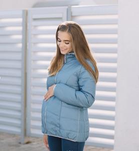 c6958fc64d2fa Kurtka dla dwojga - ciążowa - Love&Carry 3w1 - niebieski