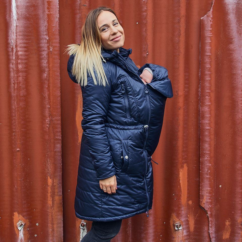 0f340d4a2119b Kurtka dla dwojga - ciążowa - Love&Carry 3w1 - granat LoveCarry.pl ...