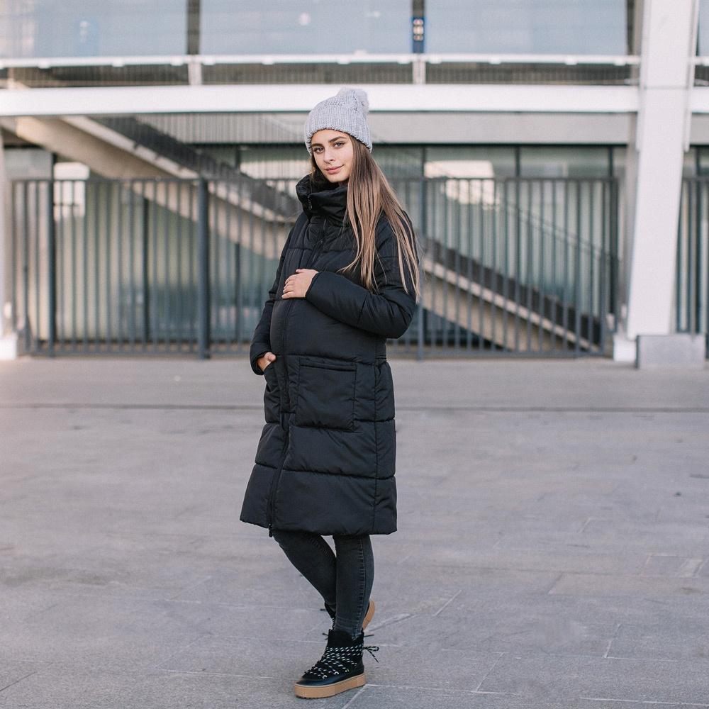 9b3385d68049a Zimowa kurtka dla dwojga - ciążowa - Love&Carry 3w1 - Czarny ...